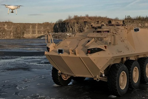 Successfully Integration of counter UAS sensors in Light Armoured Vehicle